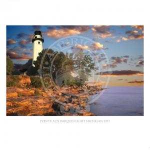 Pointe Aux Barques Light Michigan 1857
