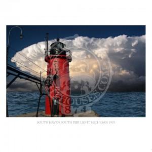 South Haven South Pier Light Michigan 1903
