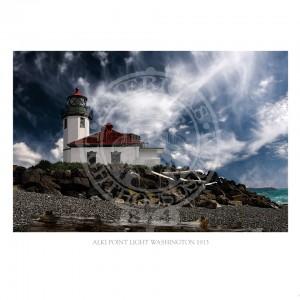 Alki Point Light Washington 1913