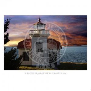 Burrows Island Light Washington 1906