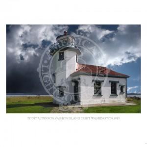 Point Robinson Vashon Island Light Washington 1915
